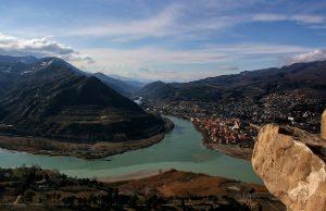 Панорамный вид на долину реки и Мцхету