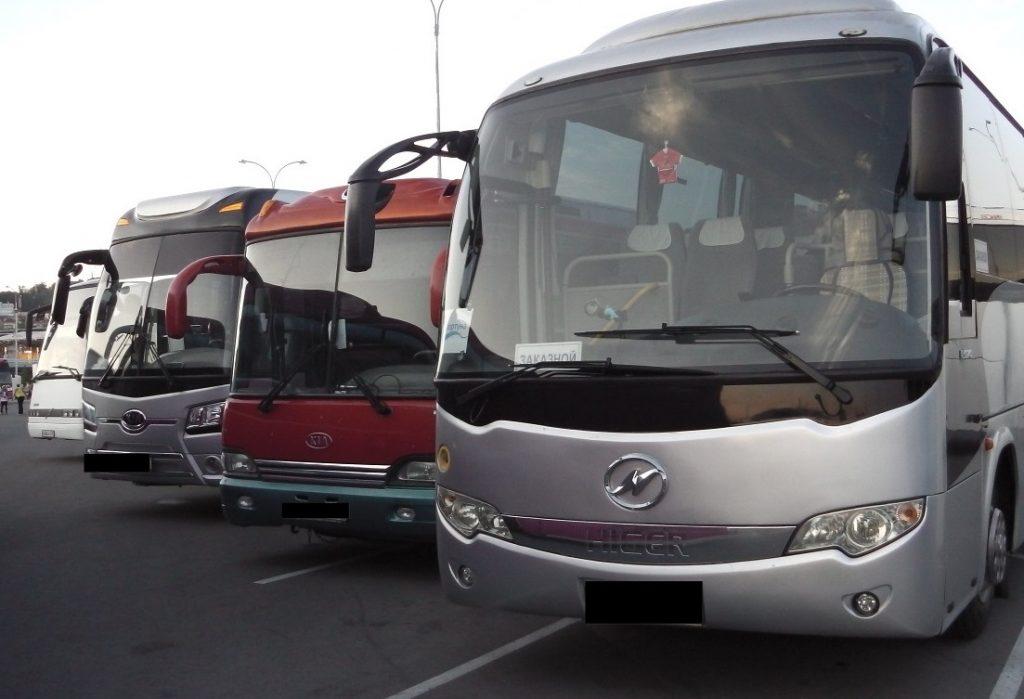 Какие автобусы доступны для заказа аренды с водителем