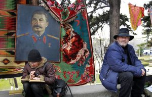 Портрет Сталина на блошином рынке Тбилиси
